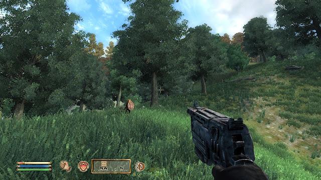 Fallout N99 10mm pistol in Elder Scrolls Oblivion