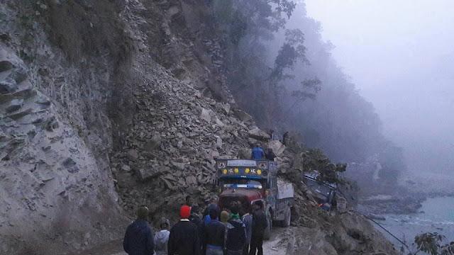 Massive Landslide Near Rangpo Sikkim