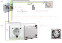 doble interruptor toma chuco extractor y punto luz baño
