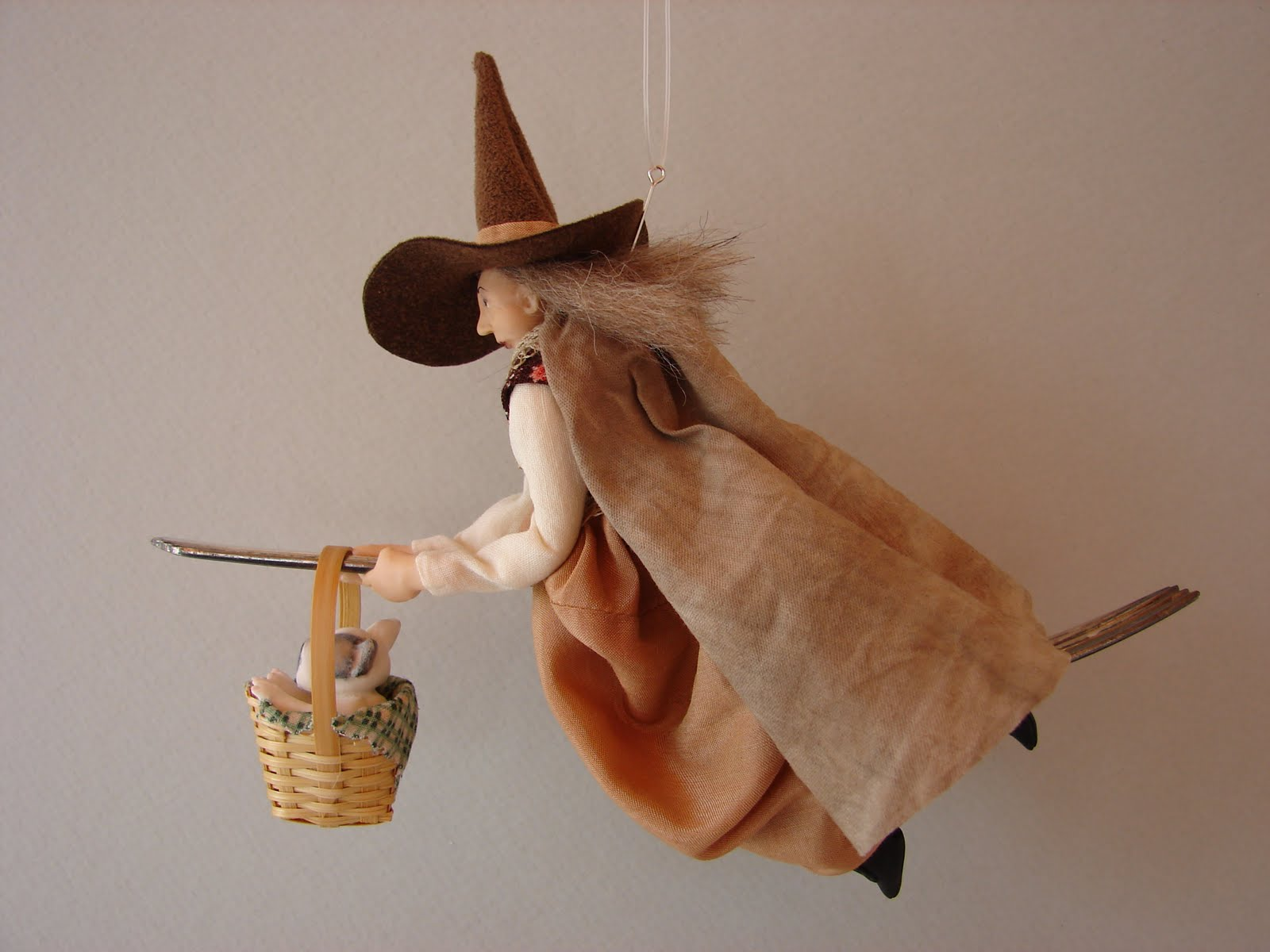 From the Studio of Pat Benedict: Commissioned Kitchen Witch with a ...