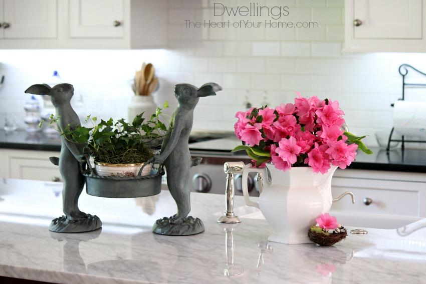 Bunny garden pot holder and ironstone