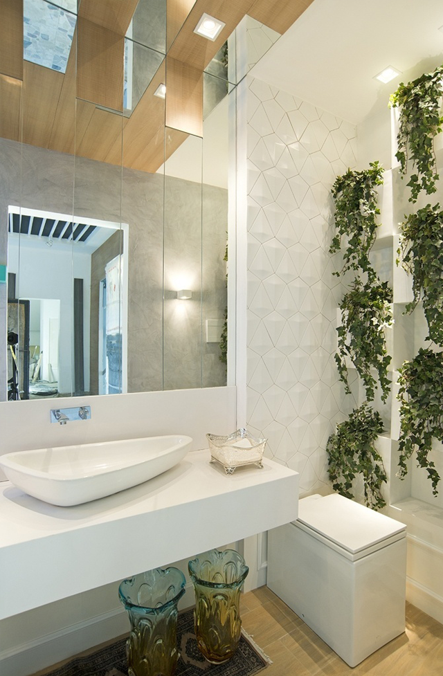 imagens decoracao lavabo : imagens decoracao lavabo:Vasos sanitários quadrados – veja banheiros e lavabos lindos com essa