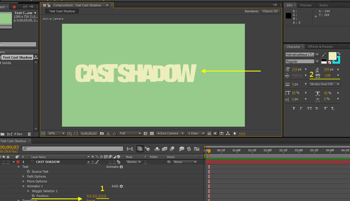 AE Text Cast Shadow 08