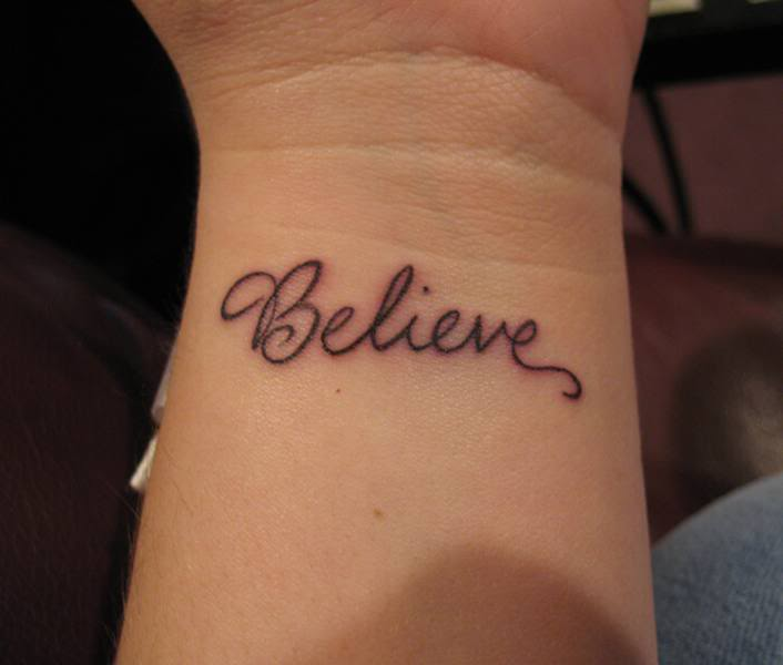 Words Wrist Tattoos for Women