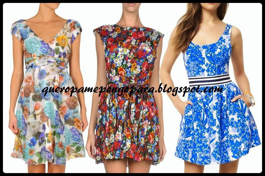 modelos de vestido floreado
