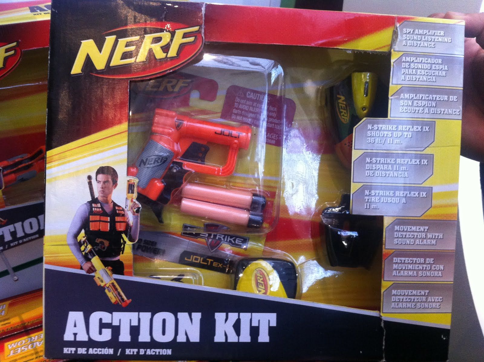 Coverage Of Hasbro Nerf Toy Fair London 22 on motion detector alarm sound