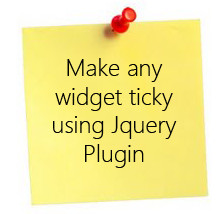 Create any widget sticky using Jquery plugin