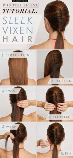 Make a french twist in the middle of your hair