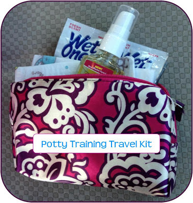 potty training travel kit- everything you need to travel with a potty training child