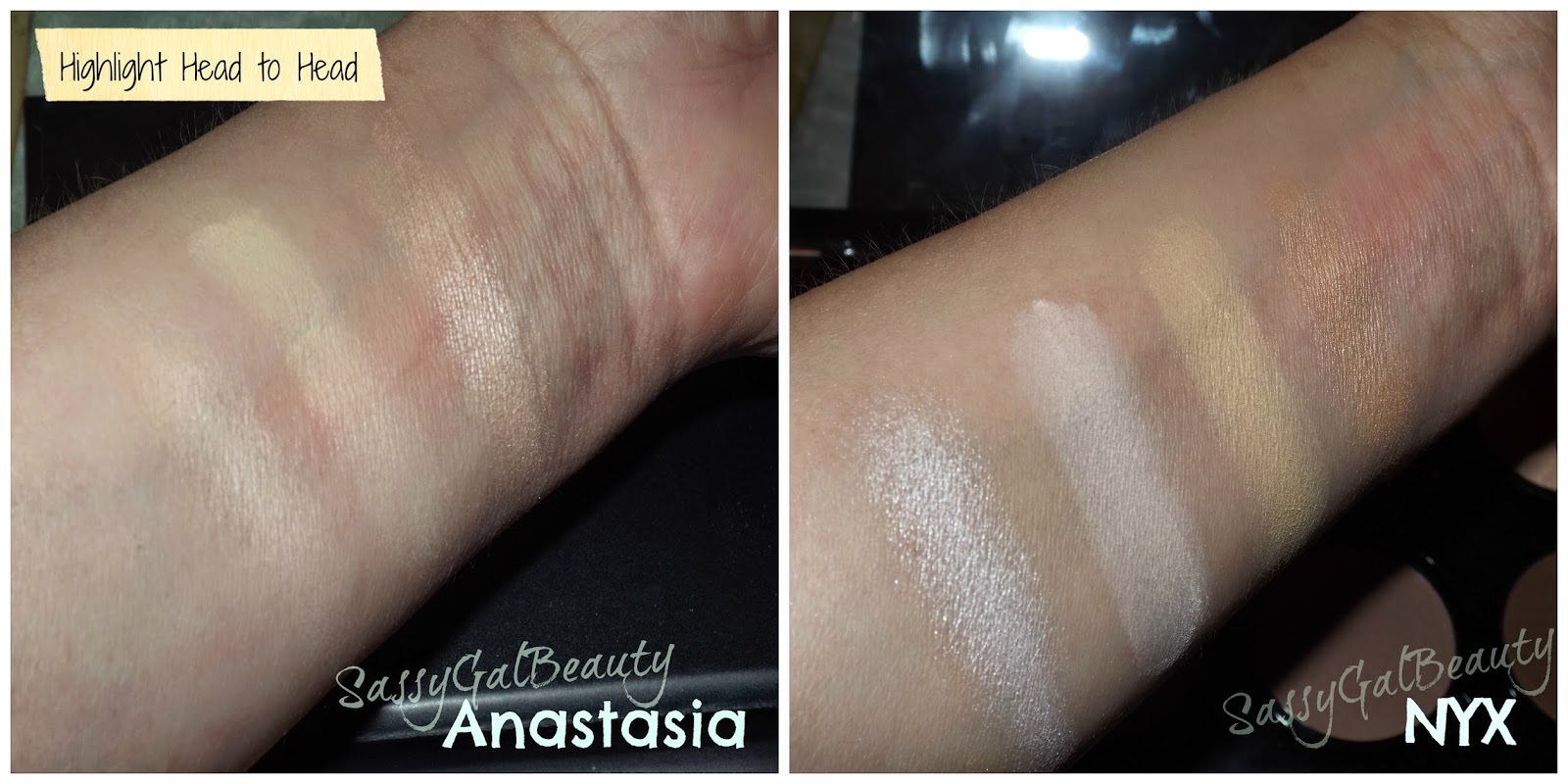 Anastasia VS NYX: Highlight Head to Head