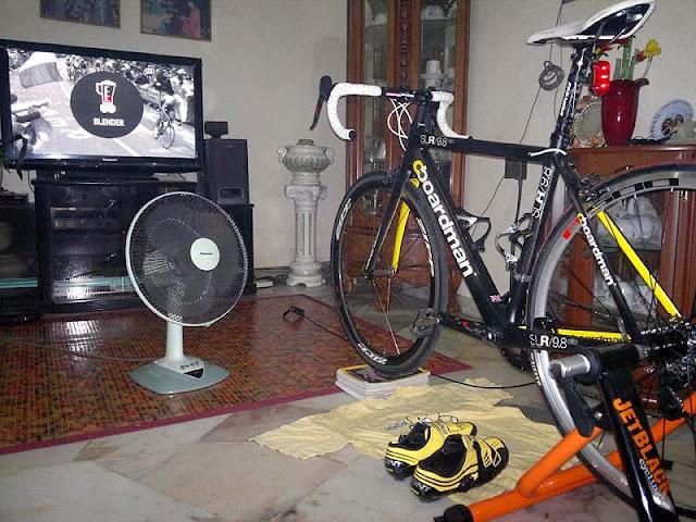 Cycling suffering in raining season