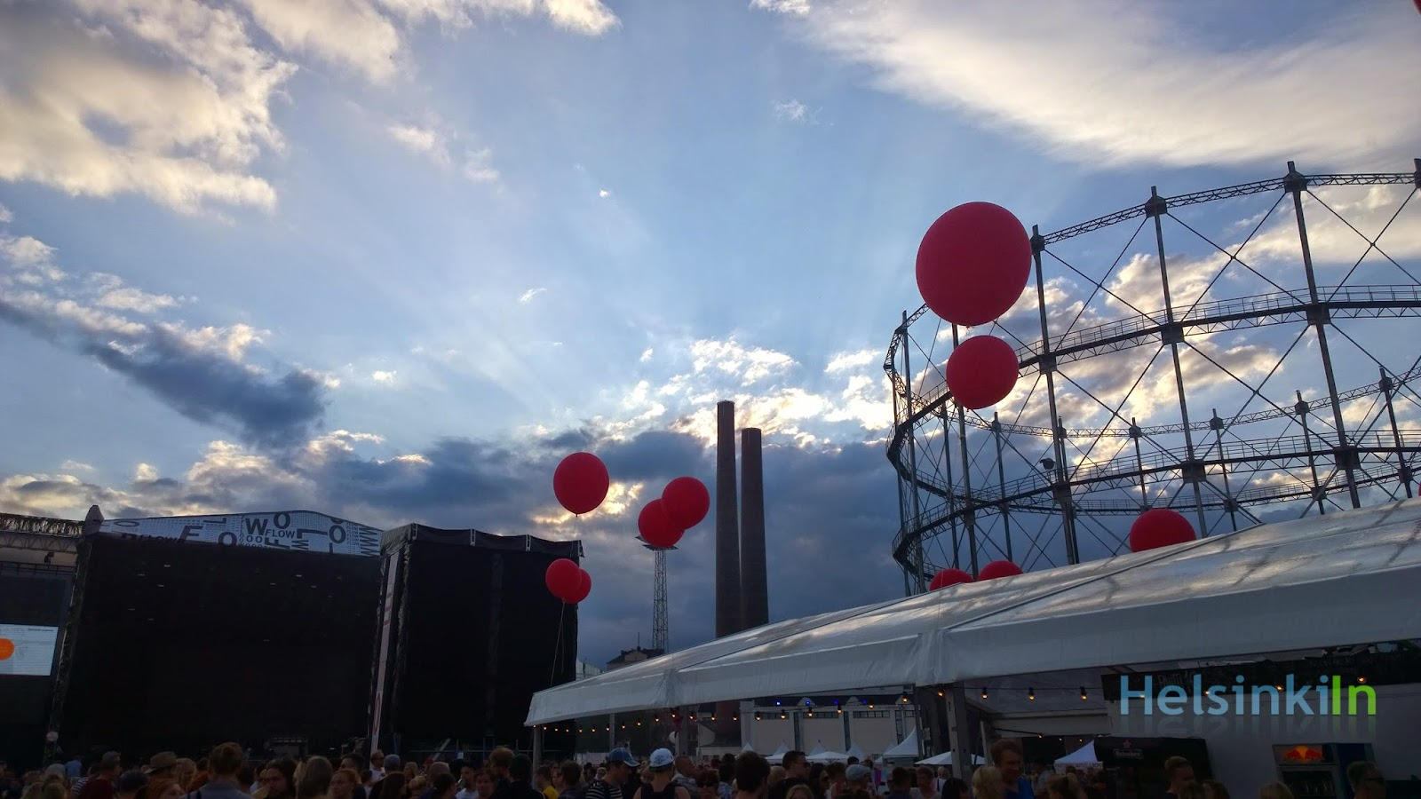 Sky over Suvilahti at the Flow Festival 2014