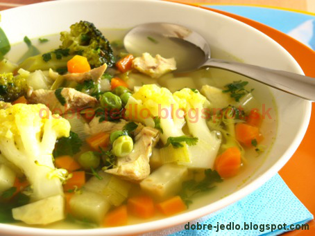 Jarná zeleninová polievka - recepty