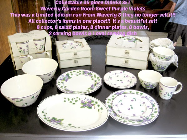 Collectable 35 piece DISHES SET Waverly Garden Room Sweet Purple Violets - Escazu Costa Rica (2 cities East of San Jose) & LIVING LIFE IN COSTA RICA blog: Collectable 35 piece DISHES SET ...