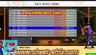 Cheat Earn Token 4000 Ninja Saga