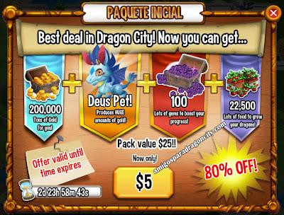 imagen de los recursos del nuevo paquete de inicio de dragon city