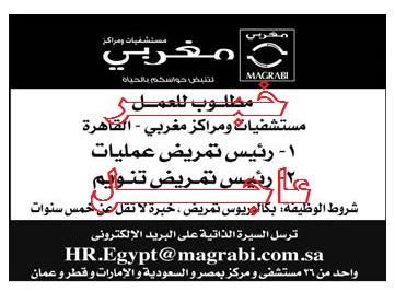 وظائف جريدة الاهرام الحكومية والخاصة داخل وخارج مصر لكل المؤهلات منشور اليوم