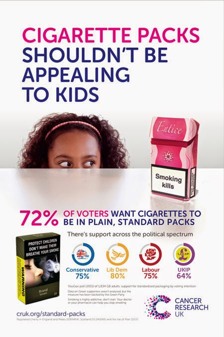 Cancer Research Plain Cigarette Packaging Advertising Government Vote