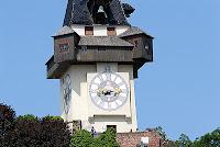 Clock Tower the symbol of Graz in Austria