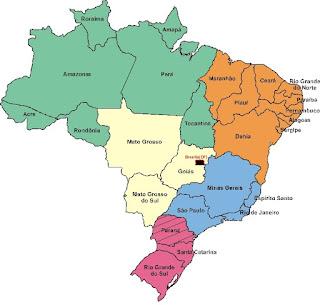 Mapa Brasil Regiões Político - www.professorjunioronline.com