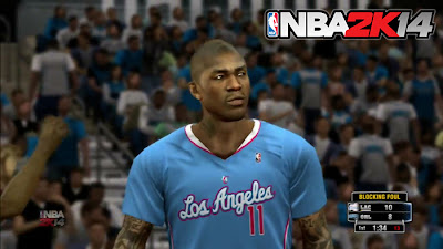 NBA 2K14 Clippers' Short-Sleeved Jersey Preview