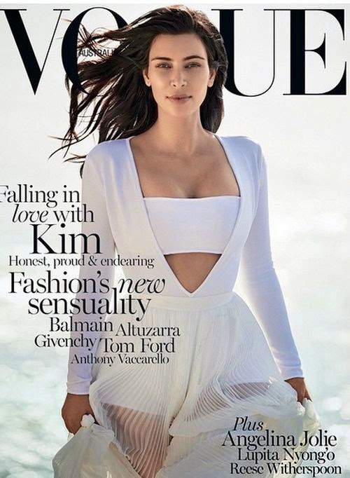 Wow! Kim Kardashian charms on the Australian Vogue