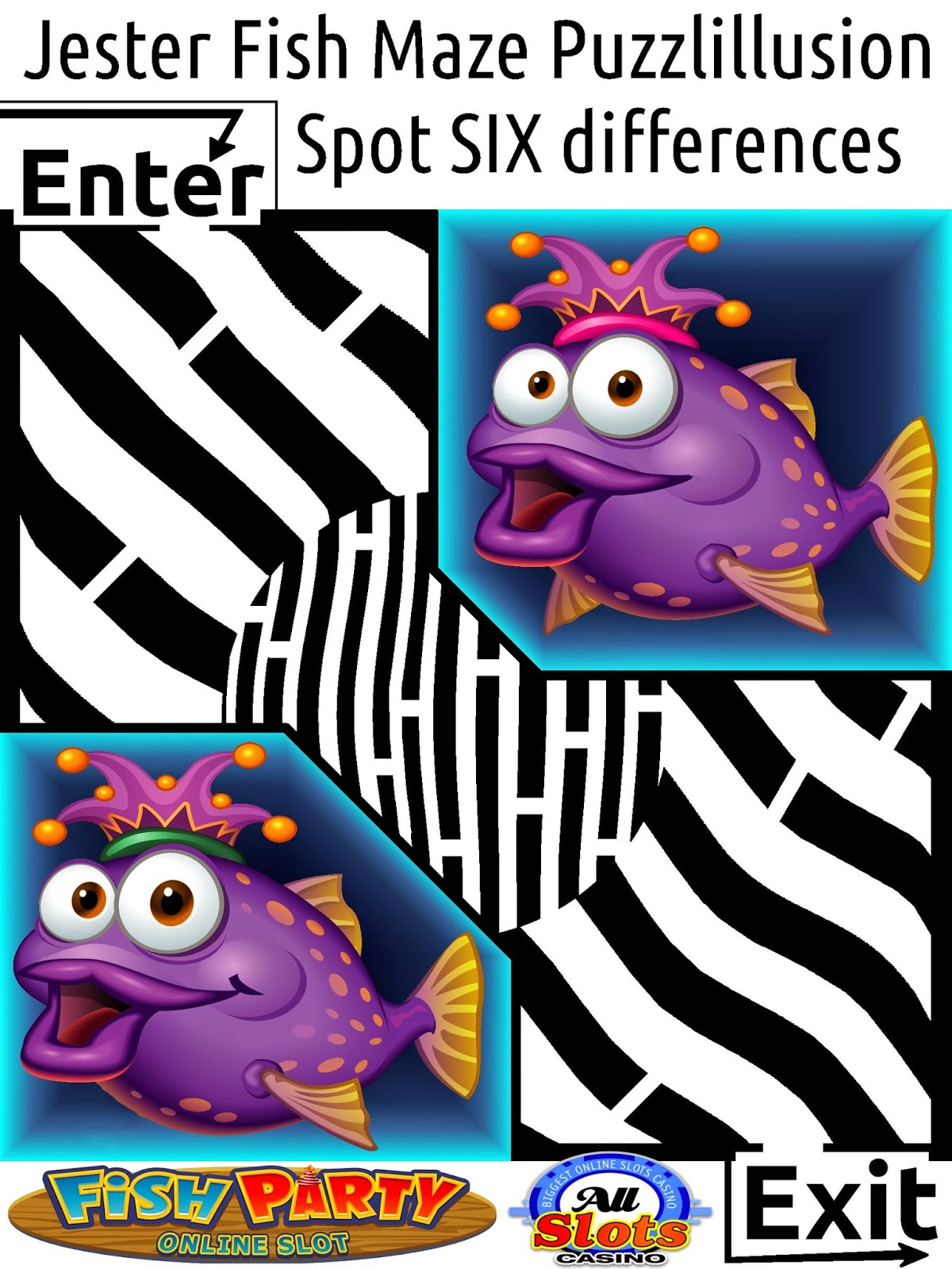 VIP Maze of purple jester fish