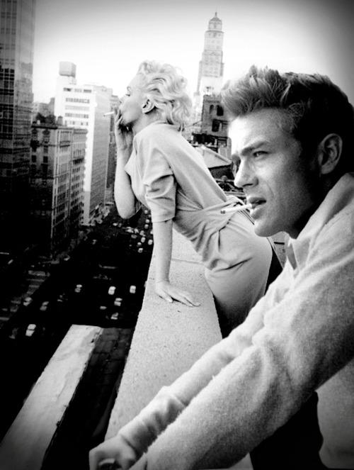 Marilyn Monroe y James Dean