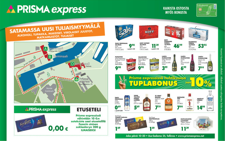 Prisma Express -tarjouksia! - Tallinna Tutuksi