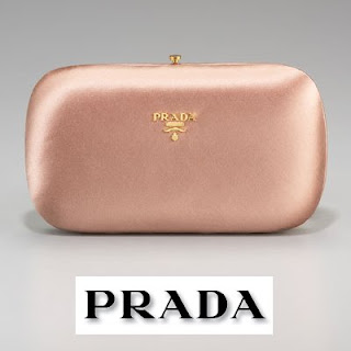 Kate Middleton style PRADA Raso Clutch Satin Minaudiere