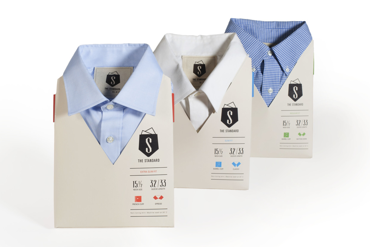 Shirt design concepts - Standard Dress Shirt Concept On Packaging Of The World Creative Package Design Gallery