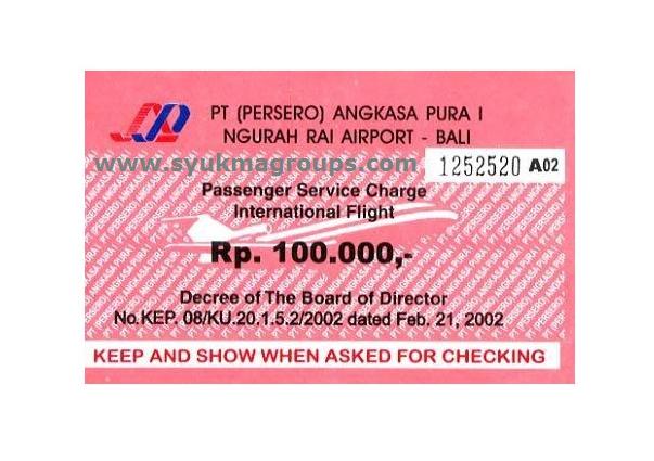 Tarif PJP2U, Passenger Service Charge (PSC) atau Airport Tax di beberapa Kota Di Indonesia