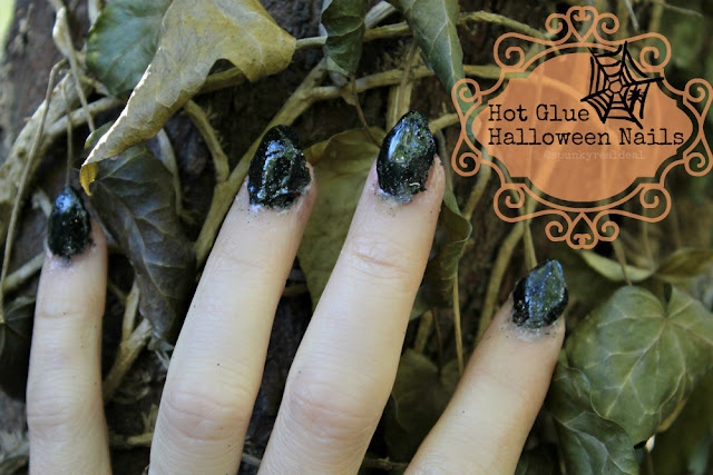 Hot Glue Halloween Nails
