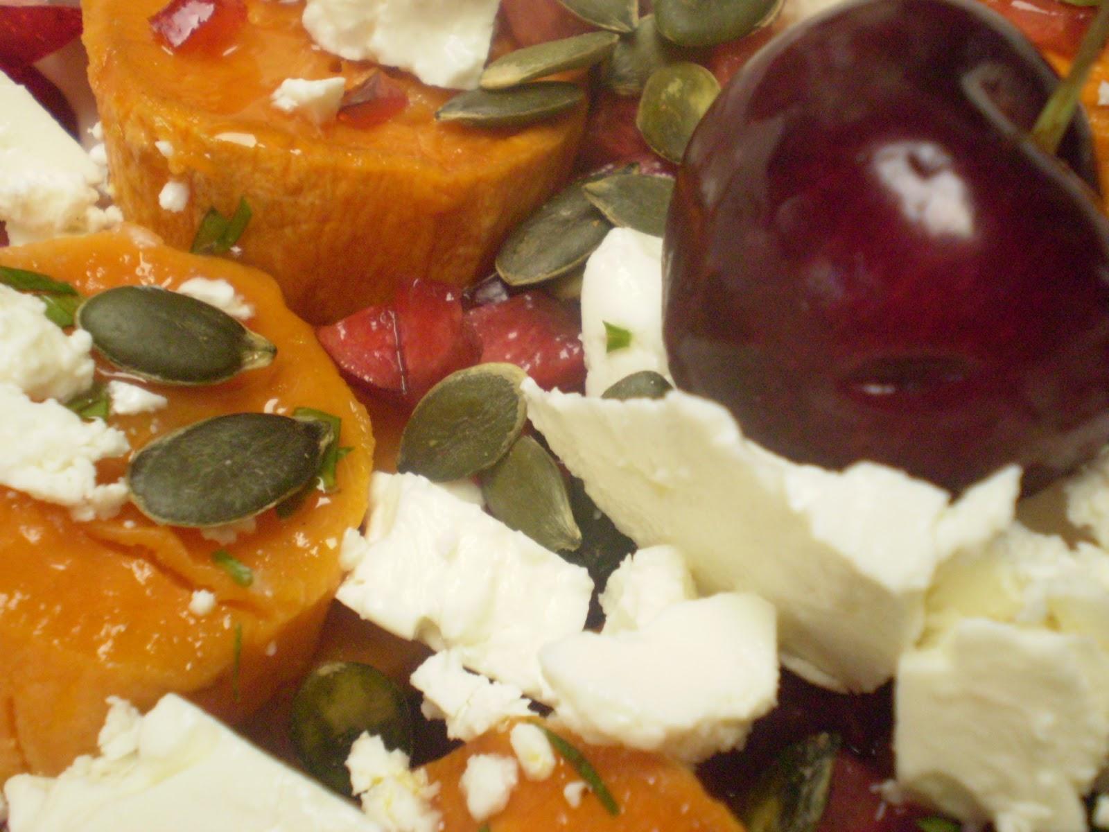 Salade de patates douces aux cerises de Candice
