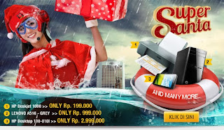 Lenovo A516 Hanya Rp 999 Ribu Super Santa Promo