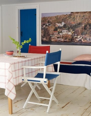 nautical red white and blue decorating