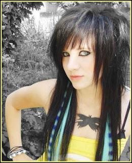 Girls Long Emo Hairstyles
