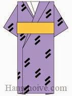 Bước 10: Hoàn thành cách xếp cái áo Kimono bằng giấy theo phong cách origami.
