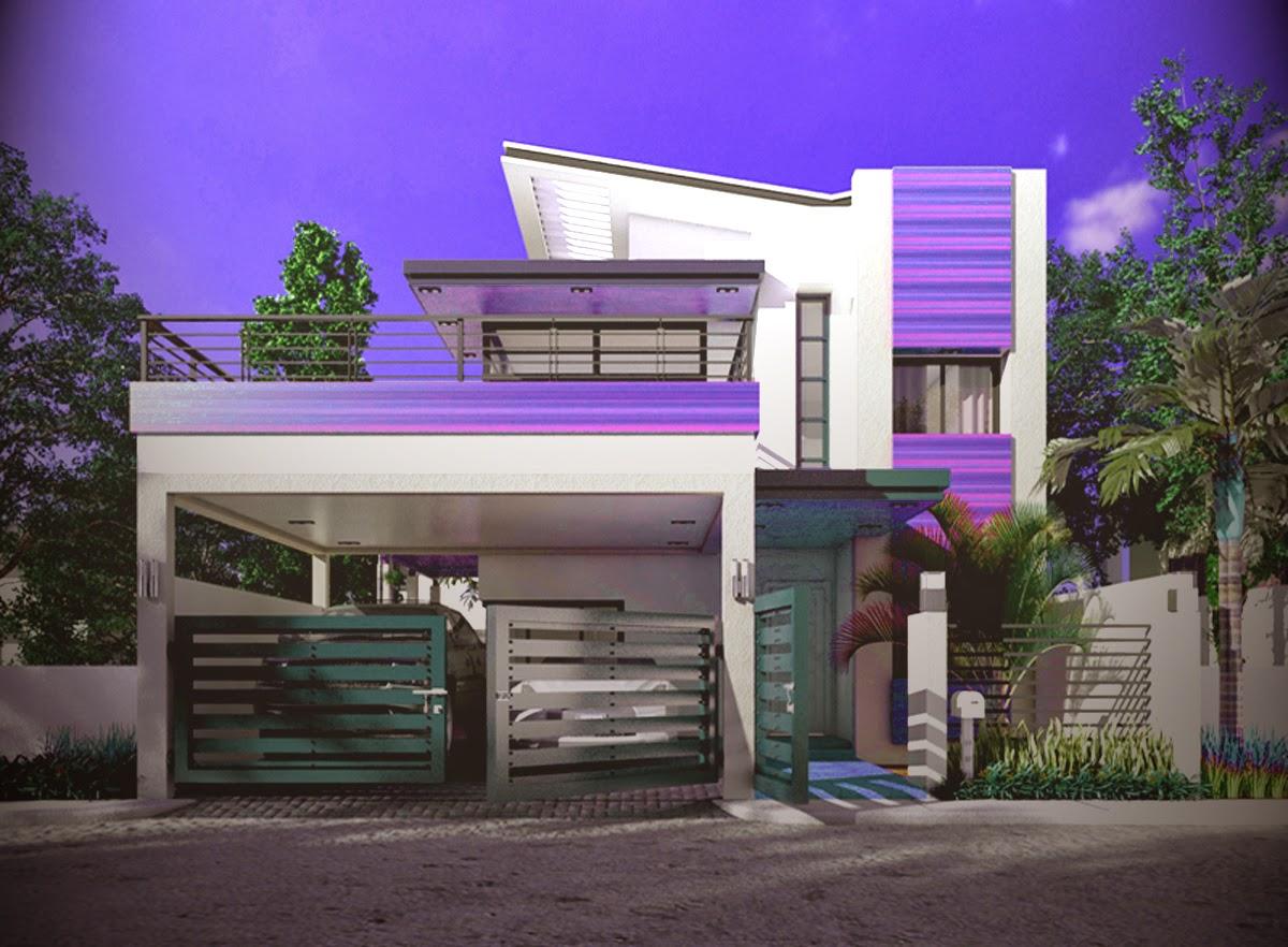 model gambar rumah minimalis modern 2 lantai