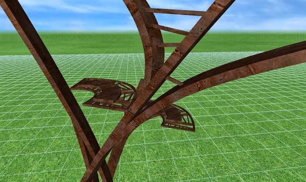 escultura metalica para un jardin de lujo, detalles de diseño 4