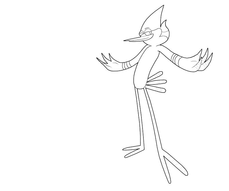 Regular Princess Coloring Pages : Mordecai action avondale style