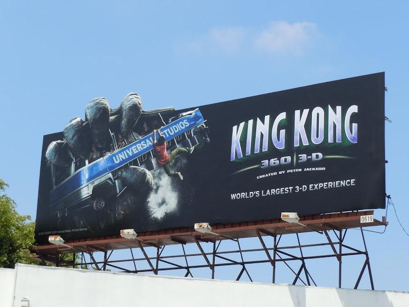 King Kong 3D standard billboard
