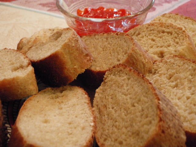 oat bread and home made strawberry jam