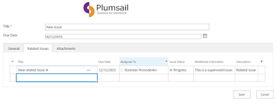 Add related items on a new SharePoint form