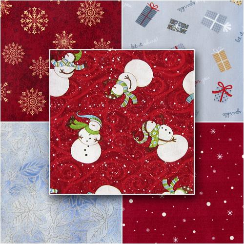 новогодние ткани, cotton fabric