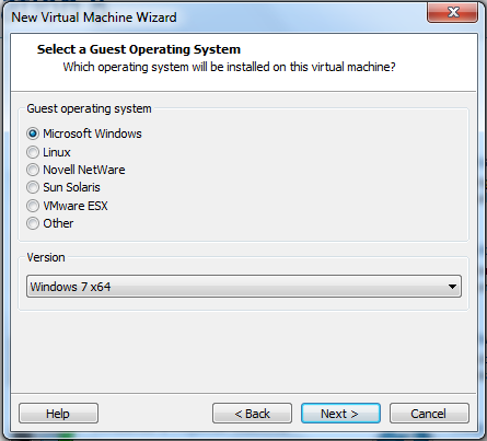 select windows 7 x64