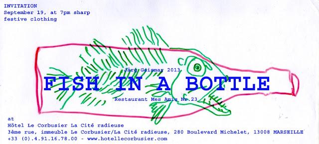 J rg geismar for Fish in a bottle menu