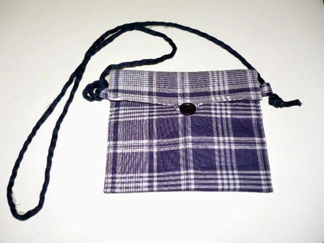 Como hacer un bolso con un retal de tela.