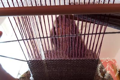 sciarpe in lana tessute a mano al telaio