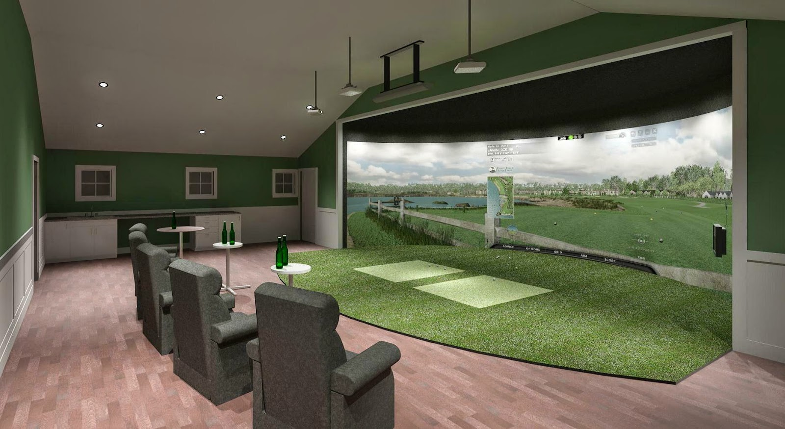 American golfer manchester cc to unveil state of the art for Golf simulator room dimensions